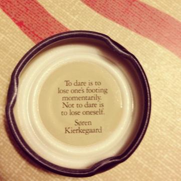 Bottle cap wisdom